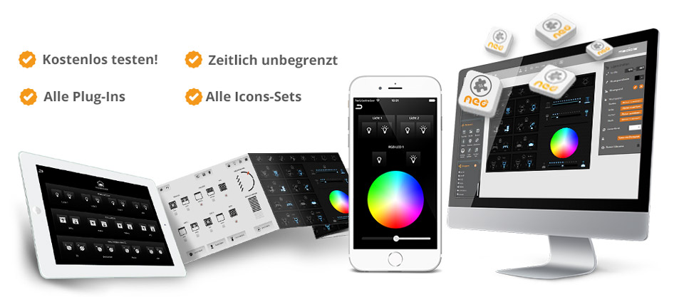 banner eigene app in  schritten tablet smartphone smarthome mediola neo creator