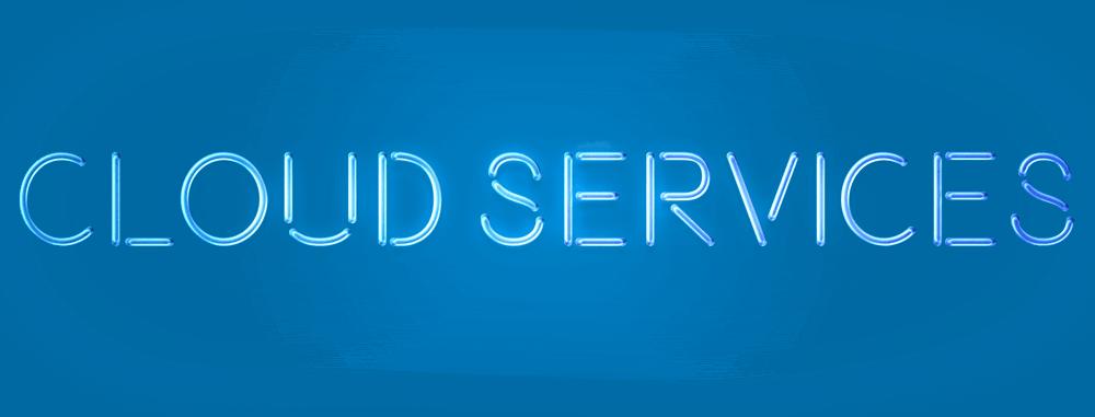 cloud services schrift