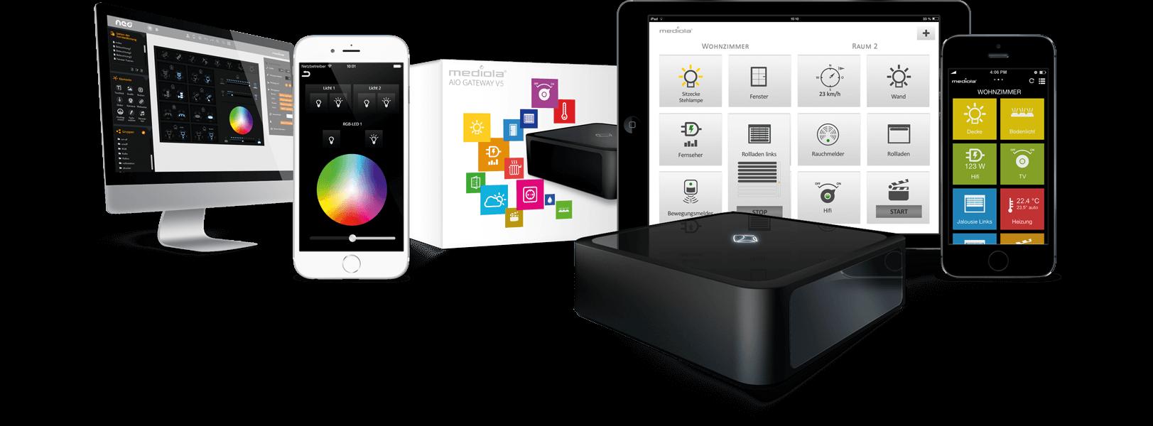 Iqontrol auf verschiedenen Geräten und Gateway