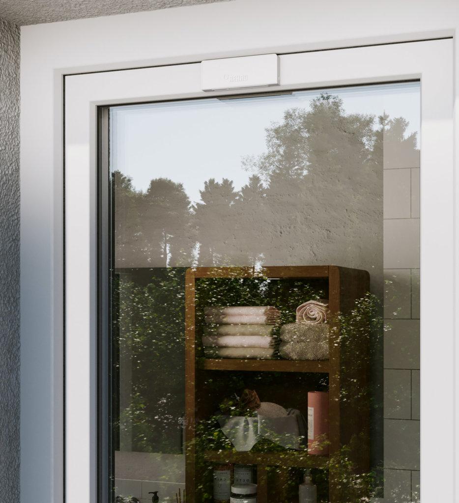 Mediola und REHAU optimieren präventiven Einbruchschutz im vollvernetzten Heim weißes Fenster mit Sensoren - Smart Home
