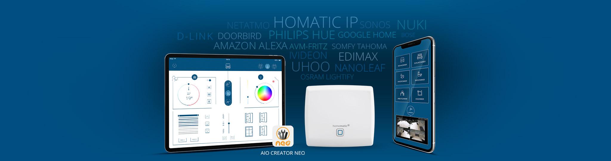 homematic ip access point mit aio creator neo - smart home mit mediola