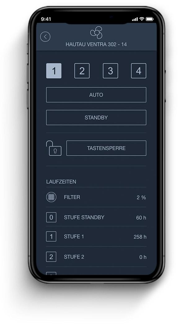 Hautau VENTRA in IQONTROL NEO App