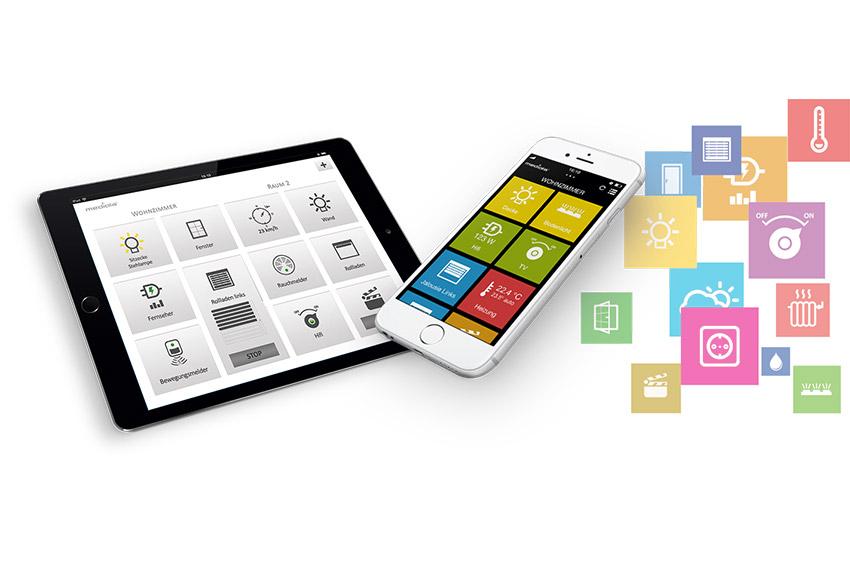 iqontrol App Ansicht auf Mobilgeräten