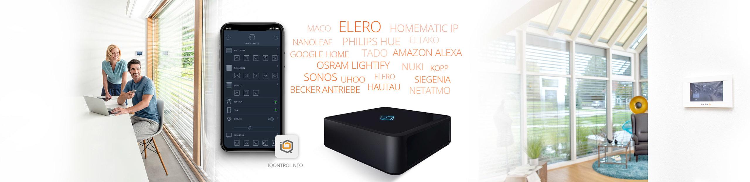 elero Works With mediola® - Rollladen, Jalousie und Markisen Antriebe - smart living mit mediola