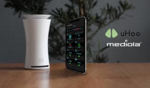 Klimaschutz für innen - mediola® integriert den smarten 9-in-1 Luftgütesensor uHoo