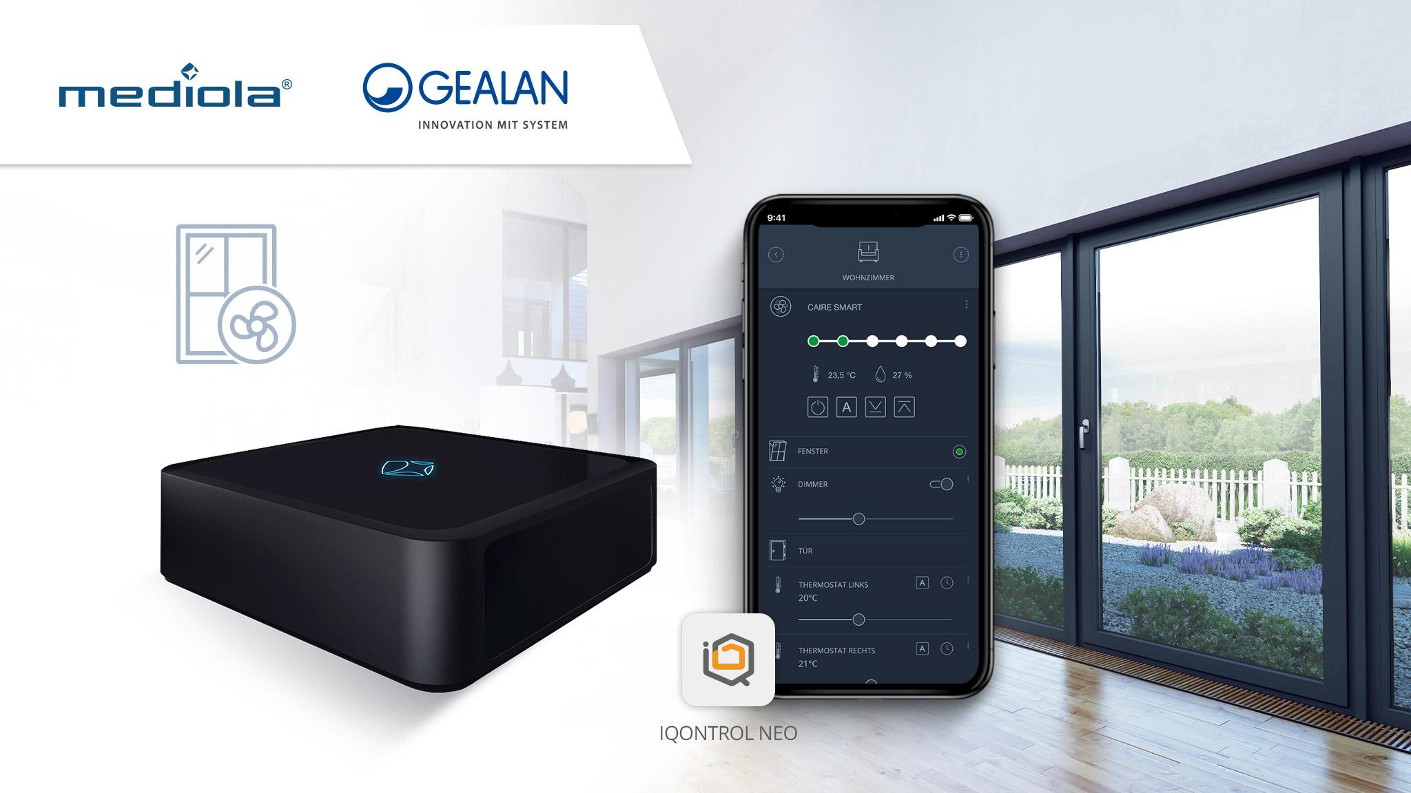 Pressemitteilung Gealan und mediola Smart home mit AIO Gateway und IQONTROL NEO