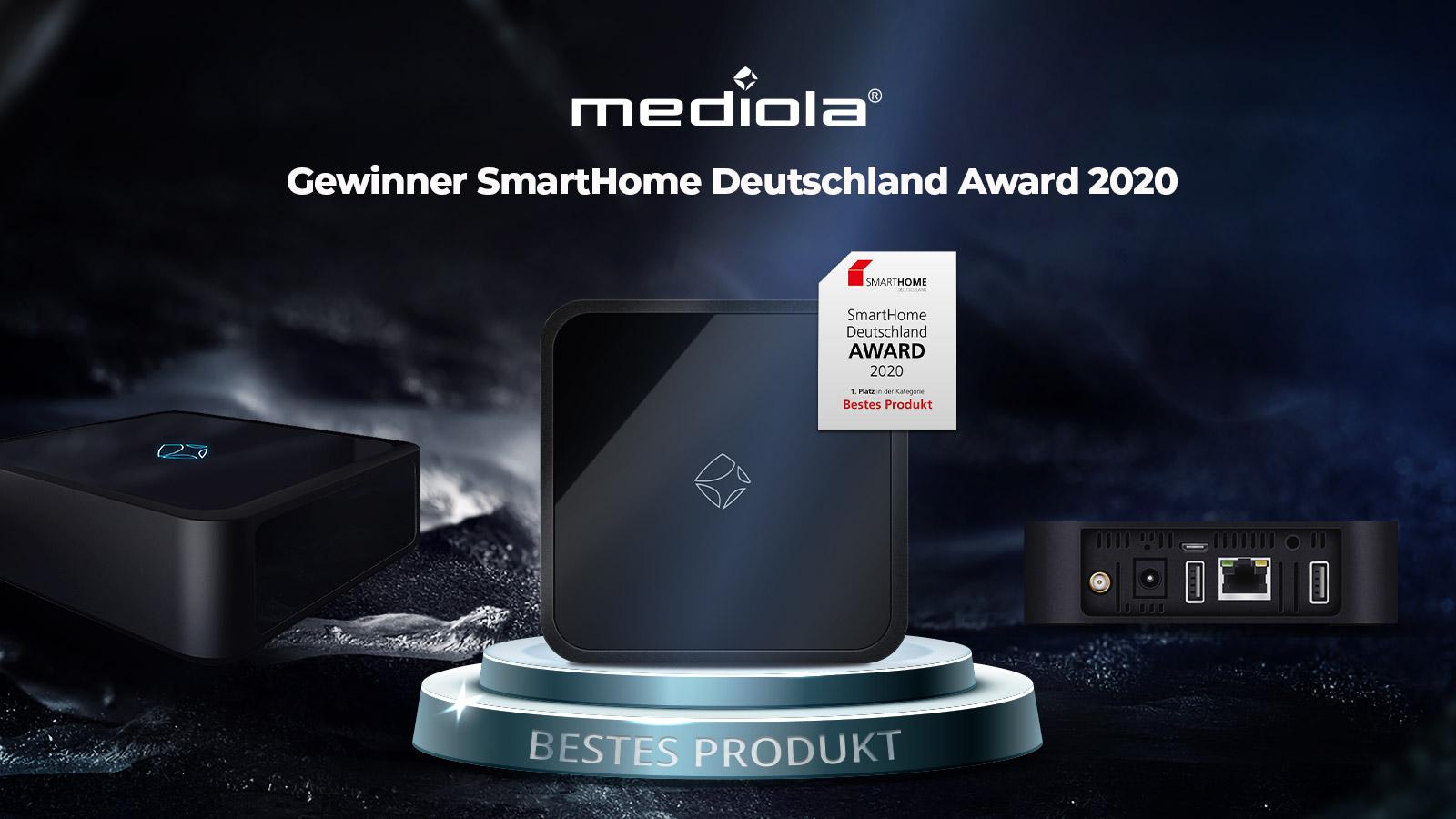 SmartHome Deutschland Award für Bestes Produkt 2020 mediola