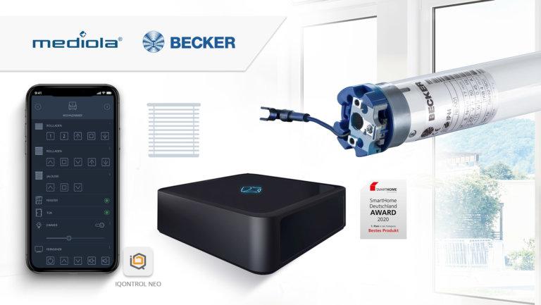 Becker Antriebe kooperiert mit mediola - AIO GATEWAY & IQONTROL NEO