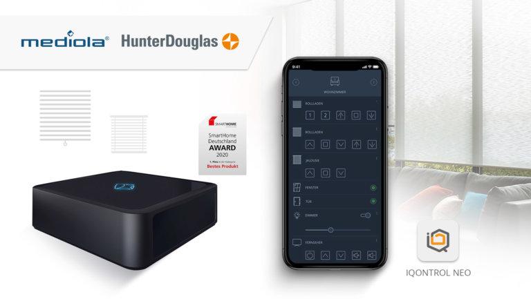 mediola® und Hunter Douglas kooperieren im Bereich Smart Home