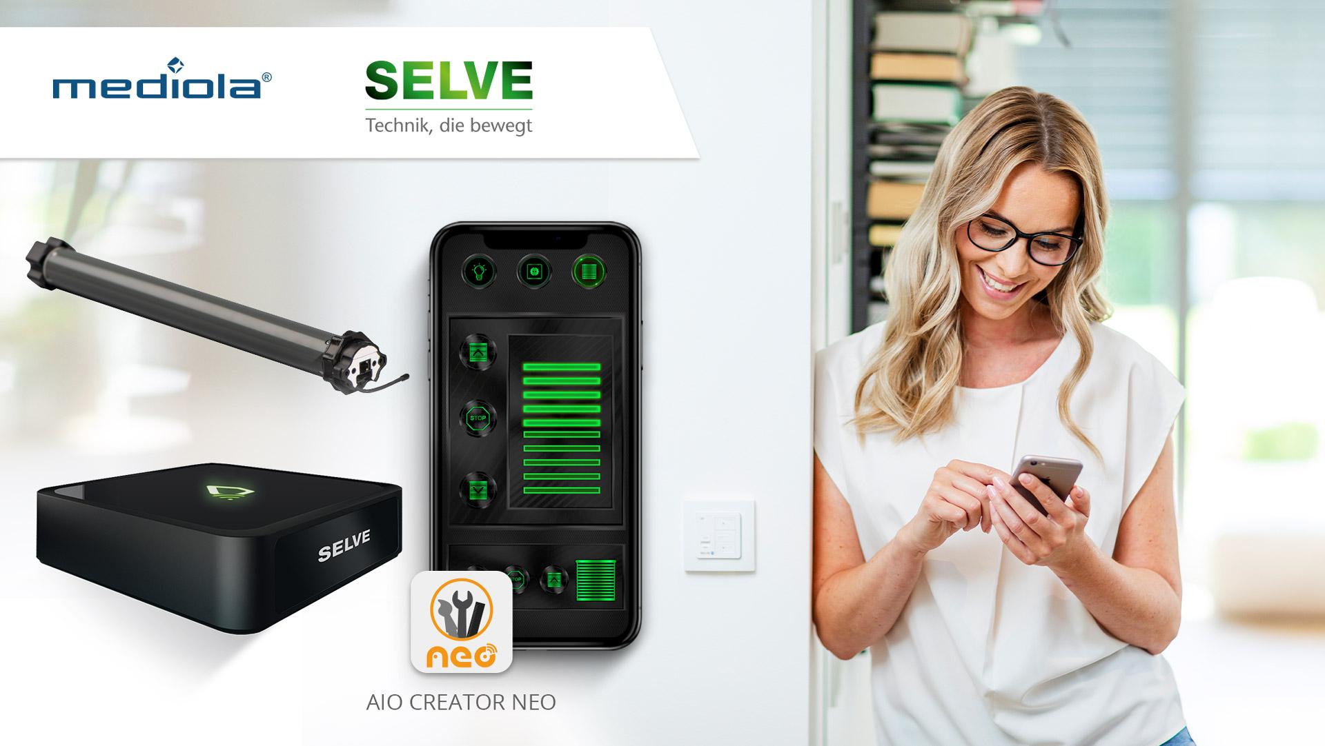 Mediola's AIO CREATOR NEO unterstützt ab sofort auch den SELVE Home Server 2