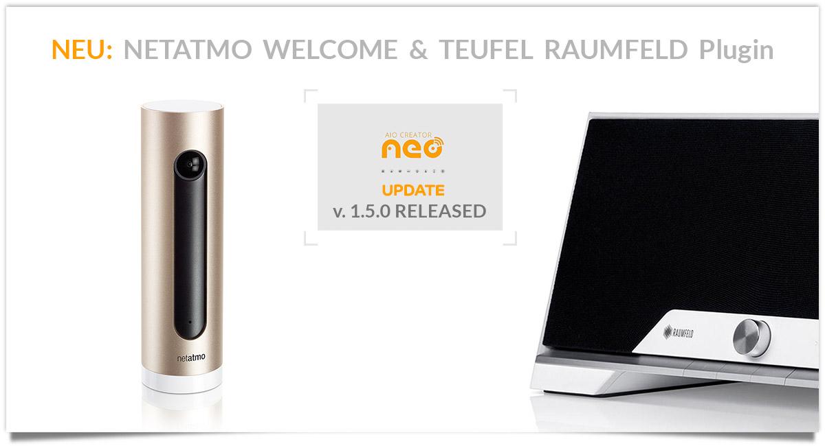 Teufel Raumfeld und Netatmo Welcome Plugin Release