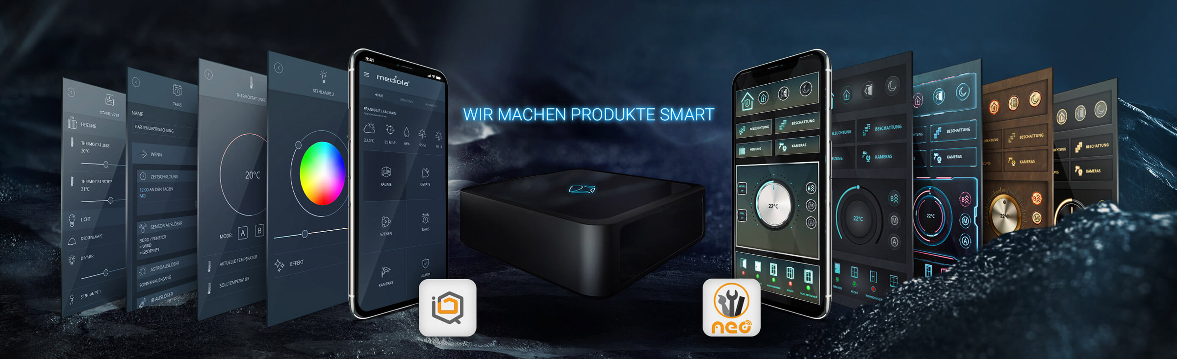 Smart Home mit Mediola connected living AG - Produkte - Gateway und Softwares