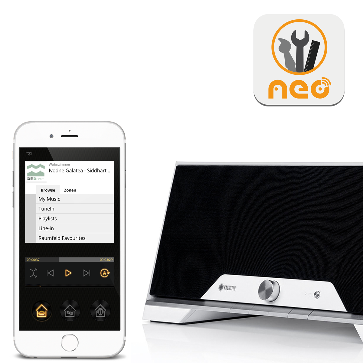 Teufel Raumfeld Plugin für NEO Smart Home App