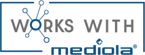 works with mediola logo